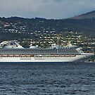 Diamond Princess approaches Wrest Point, Hobart, Tasmania by PC1134