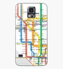 MTA Subway Map iPhone Case Case/Skin for Samsung Galaxy