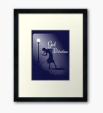 Girl Detective Framed Print