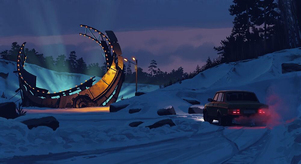 December Salvage by Simon Stålenhag
