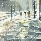 Winter Evening, Crossing Thistle Street by Ross Macintyre