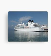 Ship in harbour Canvas Print