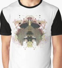 Michael Myers Halloween Mask Inkblot Graphic T-Shirt