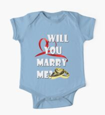 WILL YOU MARRY ME? One Piece - Short Sleeve