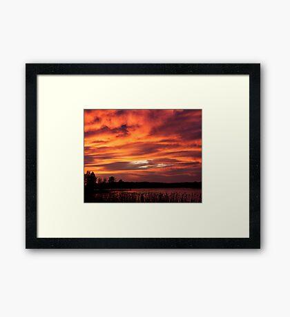 Red tornado Framed Print