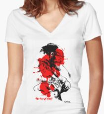 SONS OF FATE Tee [faded ink ] Women's Fitted V-Neck T-Shirt