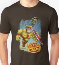 Pizza Man Leaping Unisex T-Shirt