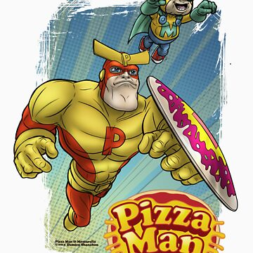 Pizza Man Leaping by shanamation