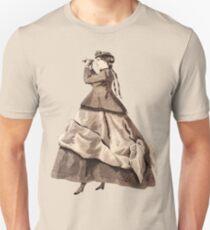 Steampunk Victorian Lady with Binoculars T-Shirt