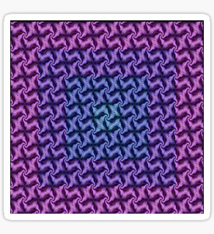 Seamless Geometric  In Aqua, Lilac and Pink Sticker