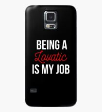 Being a Lovatic is my job -- White Case/Skin for Samsung Galaxy