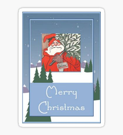 A Traditional Merry Christmas Greeting Sticker