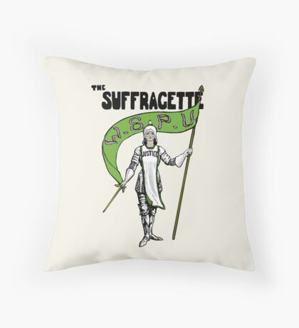 W.S.P.U. - The Suffragette Throw Pillow