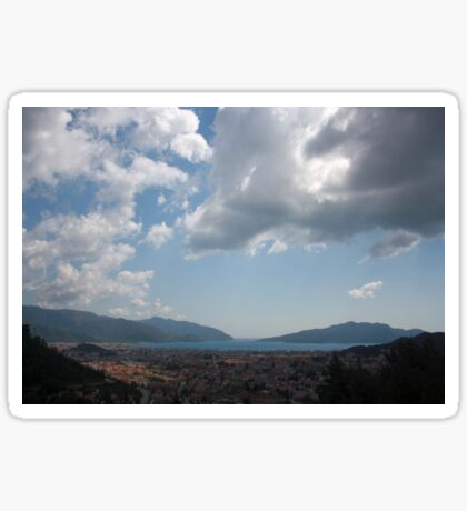 Sunshine, Clouds and Shadows Over The Bay Of Marmaris Sticker