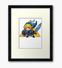 Blue HERO Framed Print