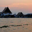 Sunset over Bangkok by Paige
