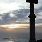 Memorial Cross at Freshwater West by Paul  Green