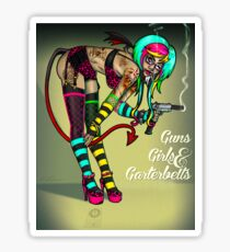 Guns Girls & Garterbelts Sticker