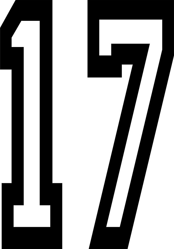 Number 17 stickers redbubble for Blueprint number