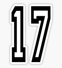 17, TEAM SPORTS, NUMBER 17, SEVENTEEN, SEVENTEENTH, ONE, SEVEN, Competition,  Sticker