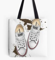 Muddy converse Tote Bag