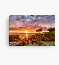 Beautiful Sunset Over the Ocean Canvas Print