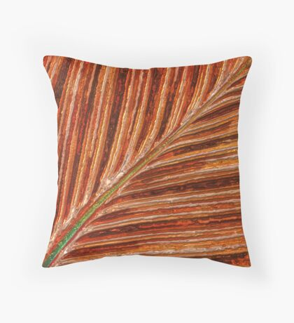 Abstract Canna Leaf Throw Pillow