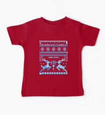 Game Over - 8-bit Ugly Christmas Sweater Baby Tee