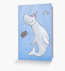 Birthday Beluga Greeting Card
