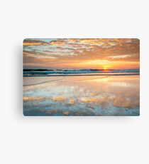 North Carolina Outer Banks Beach Sunrise Scenic Canvas Print