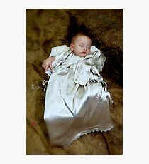 Placed in a manger Photographic Print