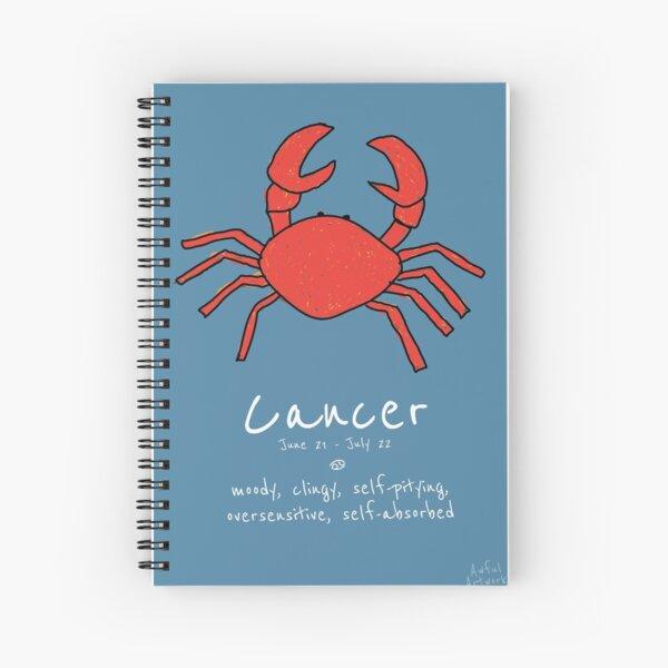 Star Signs: Cancer Spiral Notebook