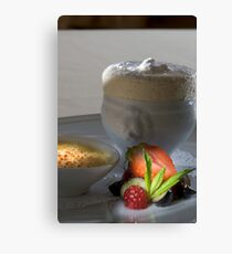 Iced vanilla soufflé with caramelised Whiskey cream h Canvas Print