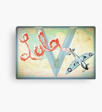 Spitfire Skywriting Canvas Print