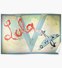 Spitfire Skywriting Poster