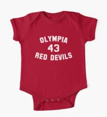 Olympia Red Devils - #43 - White Text Kids Clothes
