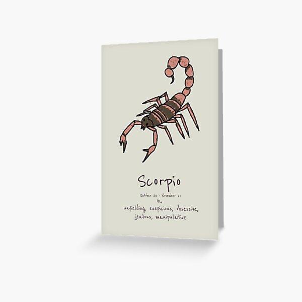 Star Signs: Scorpio Greeting Card