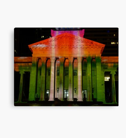 City Hall in its Xmas colours! Canvas Print