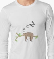 Sleeping sloth Long Sleeve T-Shirt