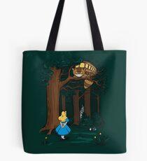 My Neighbor in Wonderland (Dark Green) Tote Bag