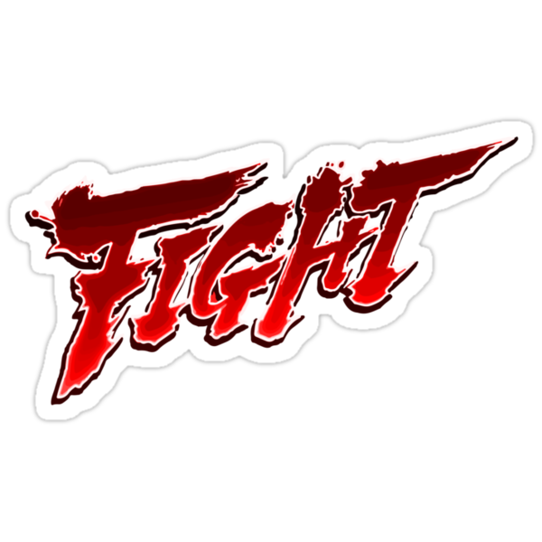 quotstreetfighter fightquot stickers by edskimo8 redbubble