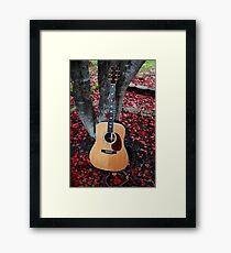Leaves In The Martin Framed Print