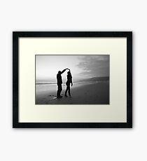 Beach // Love // Dance Framed Print