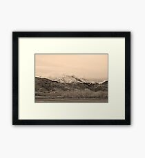 December 16th Twin Peak Sunrise Sepia View Framed Print