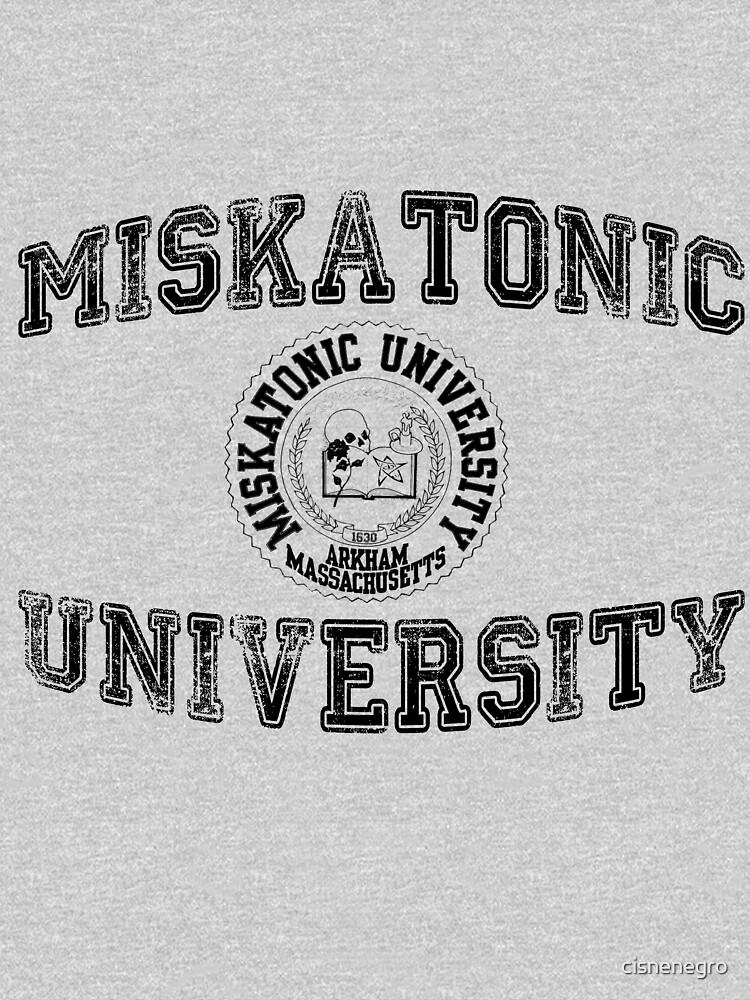 Miskatonic Universität (Schwarze Version) von cisnenegro