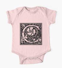 William Morris Renaissance Style Cloister Alphabet Letter C Kids Clothes