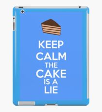 Keep Calm The Cake Is A Lie iPad Case/Skin