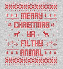 Merry Christmas You Filthy Animal (Red) Kids Pullover Hoodie