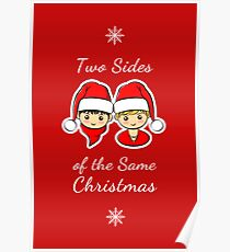 Two Sides of the Same Christmas Poster