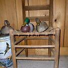 Chair and Decoys by WildestArt